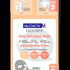Maska z filtratom polževe sline, tretman v treh korakih!