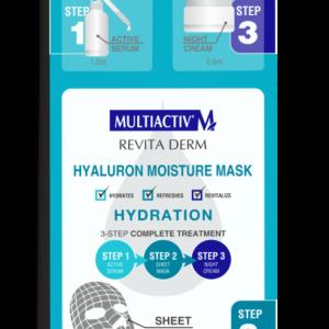 Maska za obraz s hialuronsko kislino v treh korakih